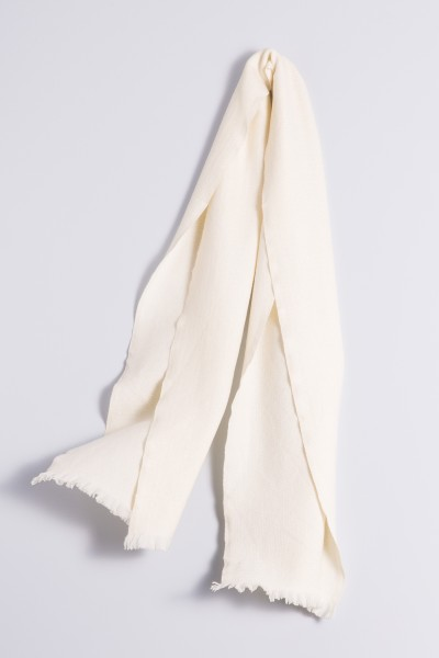 Winter Scarf 100% Cashmere creme