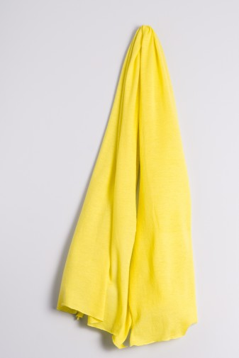 Kaschmirstola Feinstrick gelb
