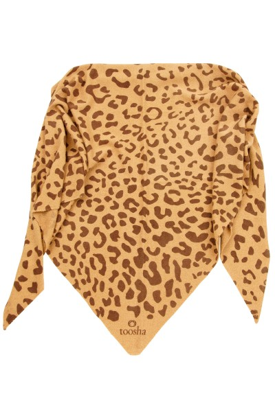 Triangle Leopard camel melange / chocolate