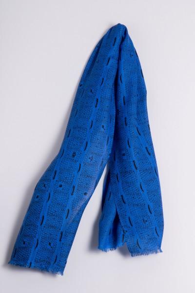 Schal Ripp-Print strong blue