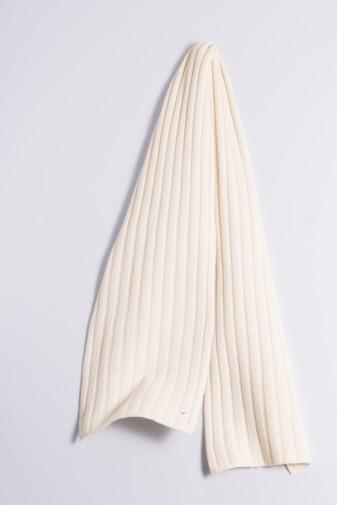 Strickschal 100% Kaschmir 4-fädig offwhite
