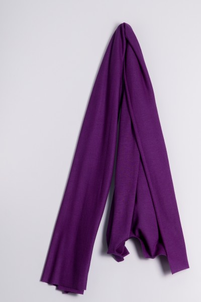 Kaschmirstola Feinstrick lila