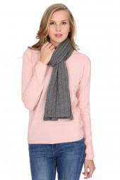 Cable Stitch Shawl 100% Cashmere derby grey