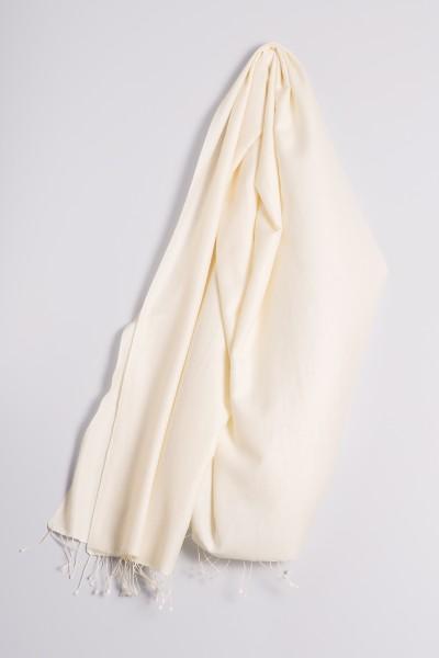 Pashmina 90x200cm wollweiss