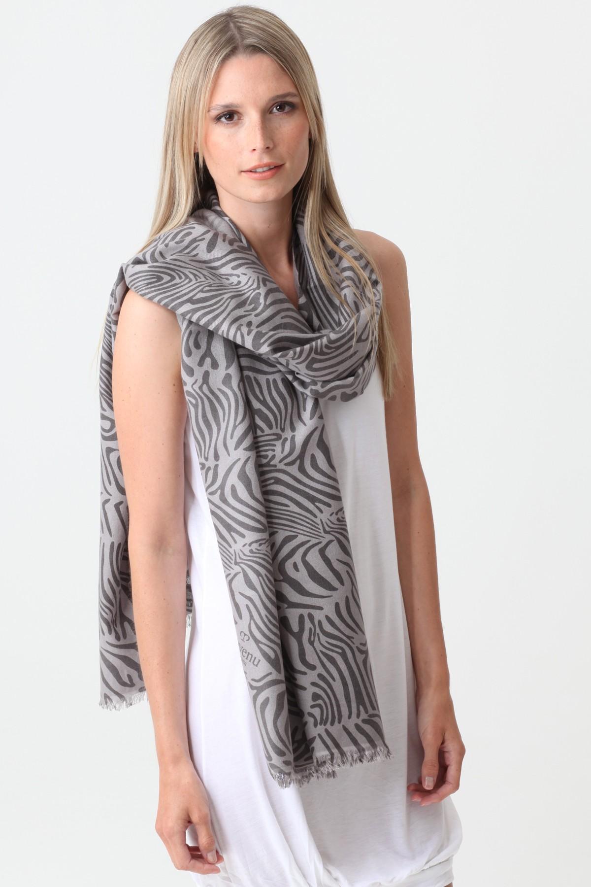 Pashmina Couture Print Zebra ash