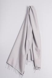Pashmina 90x200cm silver gray