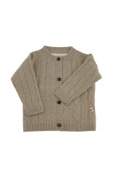 Baby Strickjacke Zopfmuster natural grey