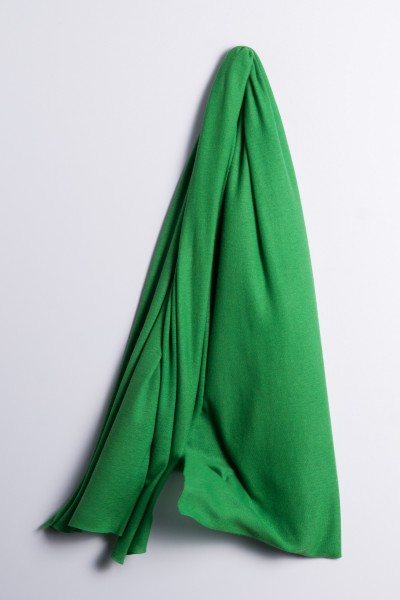 Kaschmirstola Feinstrick smaragd