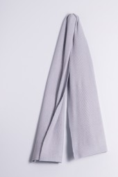 Cashmere ribbed scarf gray