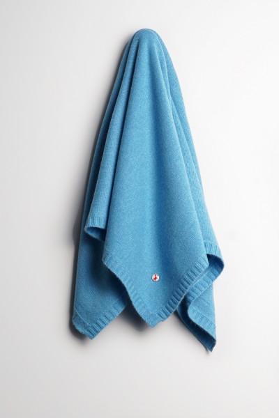 Baby Kaschmirdecke 80x80cm air blue