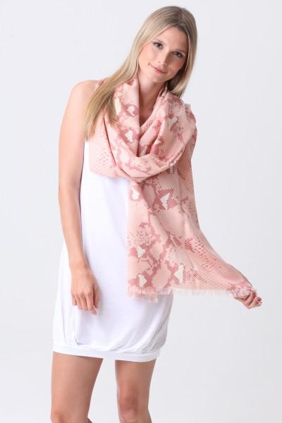 Pashmina Couture Print Python impatiens pink