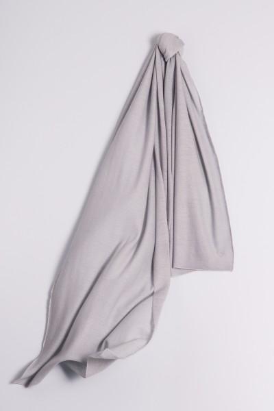 Kaschmirschal Feinstrick grau