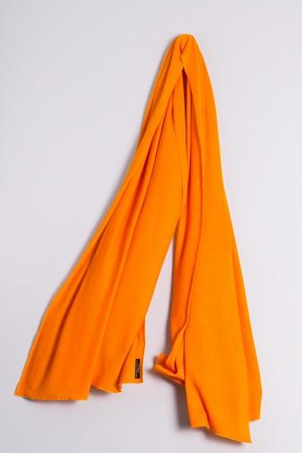 Kaschmirstola Feinstrick orange
