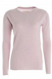 Women's long sleeve cashmere top pale purple