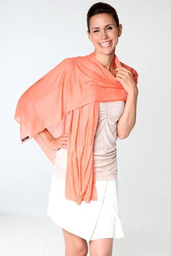 Jersey Silk Scarf fresh salmon