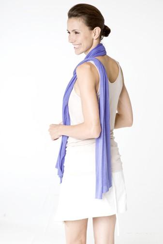 Jersey Seidenschal blue iris