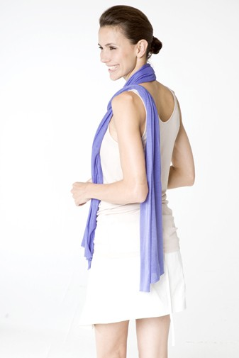 Jersey Silk Scarf blue iris