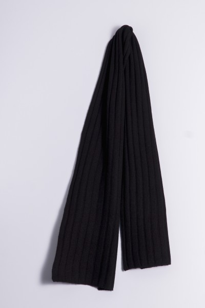 Cable Stitch Shawl 100% Cashmere black