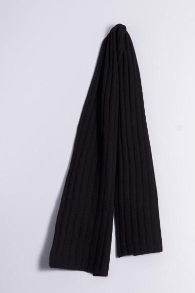 Cable Stitch Shawl 100% Cashmere black