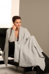 Cashmere blanket 110 × 210cm gray