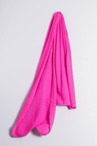 Kaschmirschal Zopfmuster pink