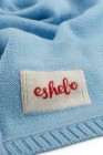 Cashmere baby blanket 80 × 80 cm air blue