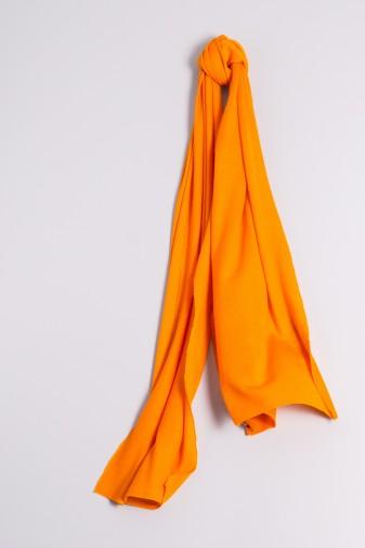 Kaschmirschal Feinstrick orange