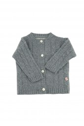 Baby Strickjacke Zopfmuster uniform grey