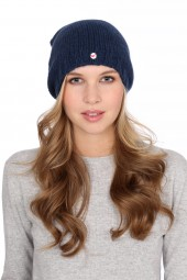 Coarsely knit cashmere cap astral