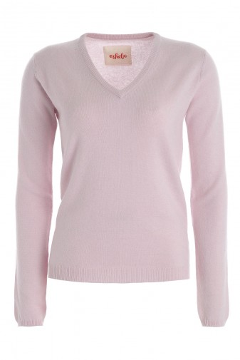 Kaschmirpullover V-Neck pale purple
