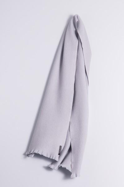 Winter Scarf 100% Cashmere silver gray