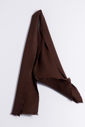 Winter Scarf 100% Cashmere dark brown