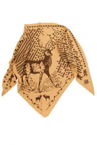 Triangle Bavarian deer camel melange / chocolate