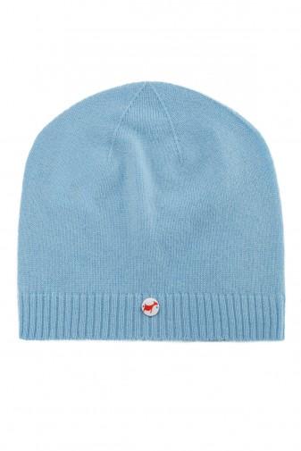 Kaschmirmütze Feinstrick air blue