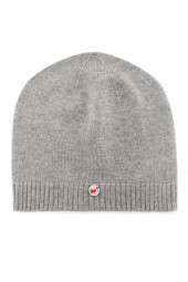 Fine knit cashmere baby cap oyster gray