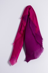 Carré 100% Cashmere Festival Fuchsia / Sparkling Grape
