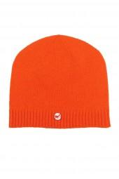 Kaschmirmütze Feinstrick dark orange
