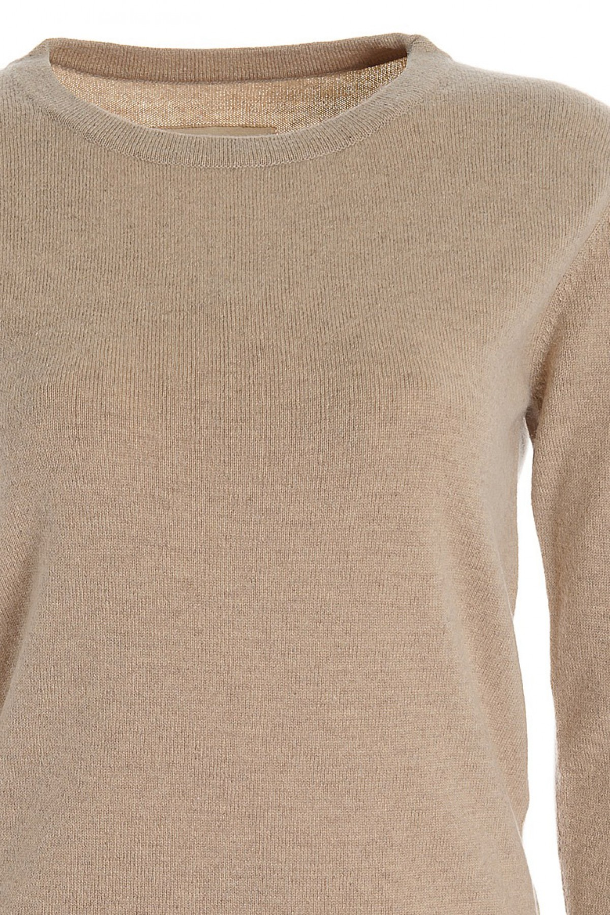 Women's long sleeve cashmere top vicuna
