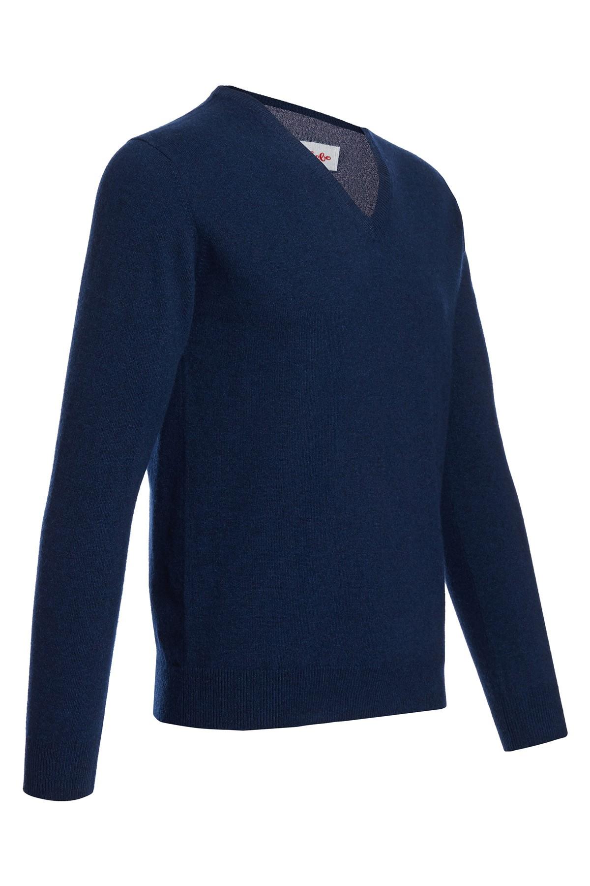 Men's V-neck cashmere sweater astral