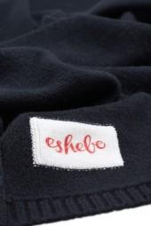 Cashmere baby blanket 80 × 80 cm black