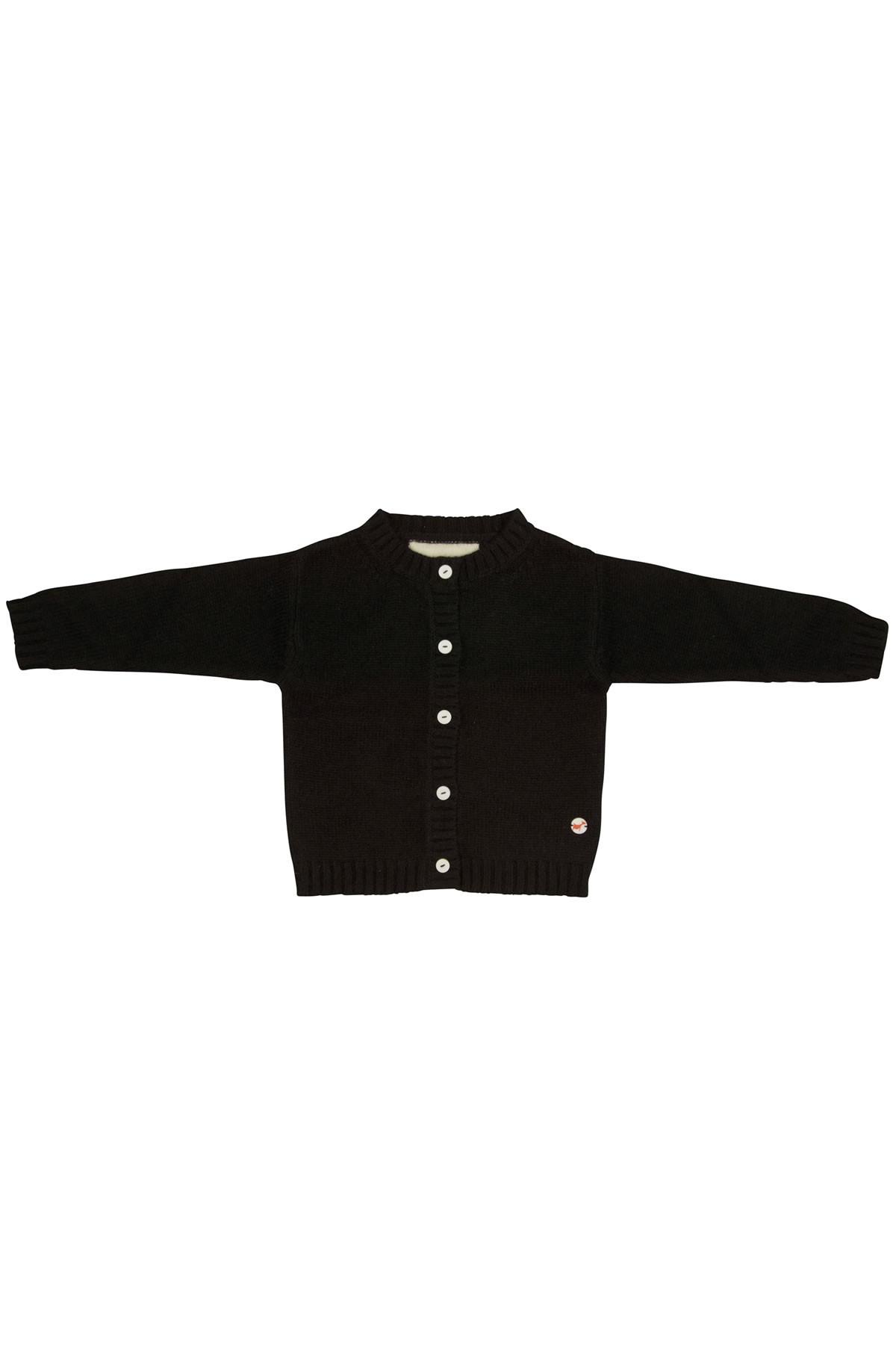 Baby Jersey knit jacket black