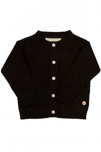 Baby Strickjacke Jersey black
