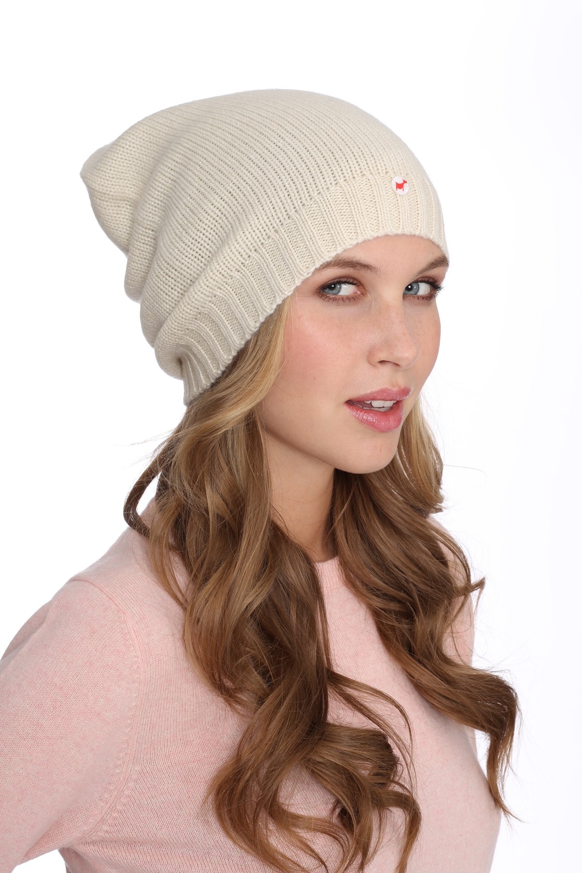 Fine Knit Cashmere Cap offwhite
