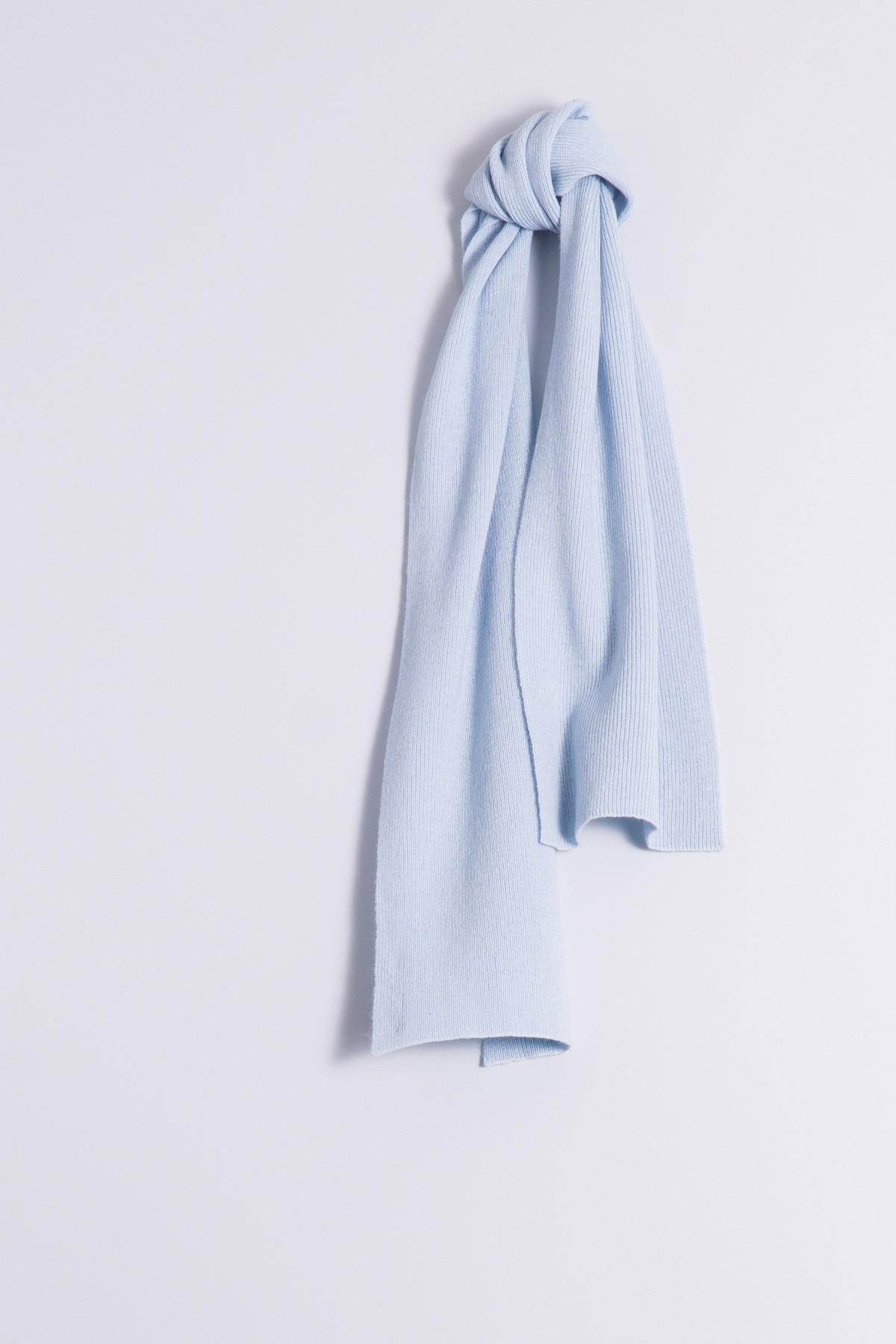 Child's cashmere scarf light blue
