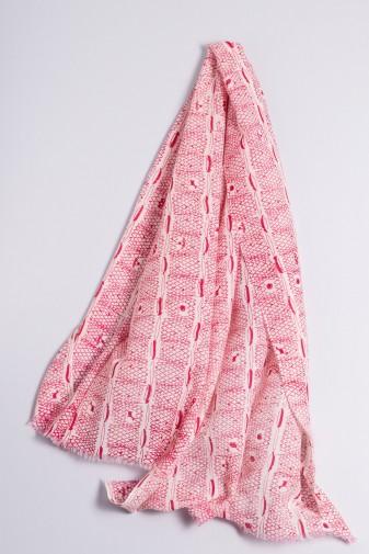 Schal Ripp-Print beetroot pink