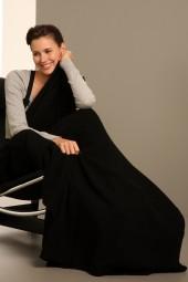 Cashmere blanket 110 × 210cm black