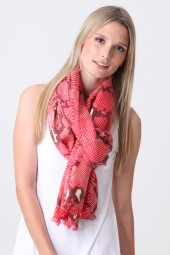 Pashmina Couture Print Python formula red