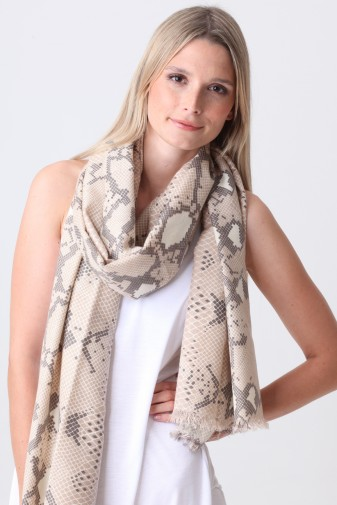 Pashmina Couture Print Python moonlight