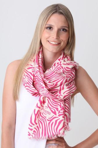 Pashmina Couture Print Zebra beetroot purple