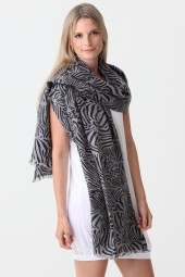Pashmina Couture Print Zebra cloud burst